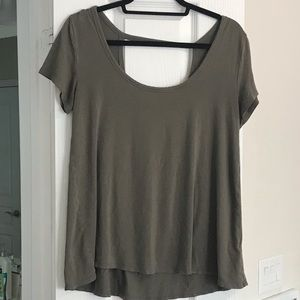 Casual olive green top